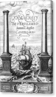 Title Page Of Instauratio Magna Canvas Print by Universal History Archive/uig