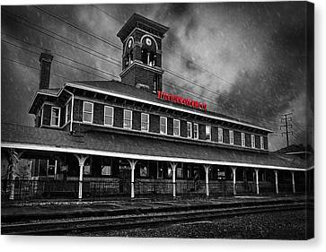 Titletown Brewing Co - Bw Canvas Print by Thomas Zimmerman