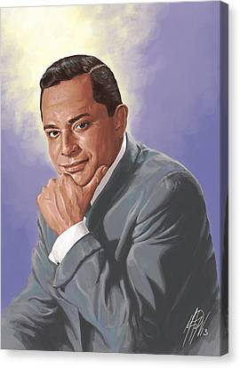 Tito Rodriguez / La Voz Canvas Print by Miguel Osorio