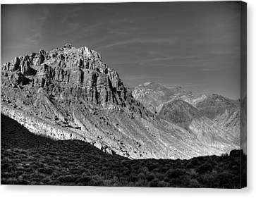 Titus Canyon Peak Canvas Print by Peter Tellone