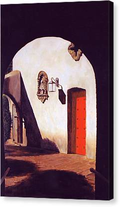 Canvas Print featuring the painting Tlaquepaque by Rick Fitzsimons