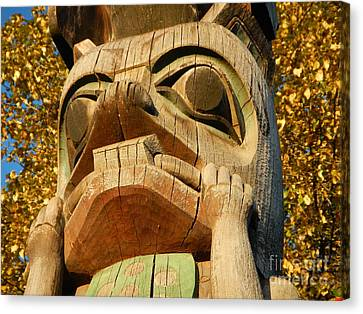 Canvas Print featuring the photograph Tlingit Totem by Laura  Wong-Rose