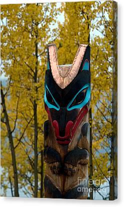 Tlingit Totem Canvas Print by Mark Newman