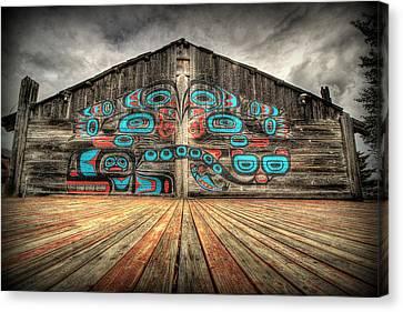 Tlingit Tribal House Haines Alaska Canvas Print by Ryan Smith