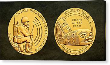 Tlingit Tribe Code Talkers Bronze Medal Art Canvas Print by Movie Poster Prints