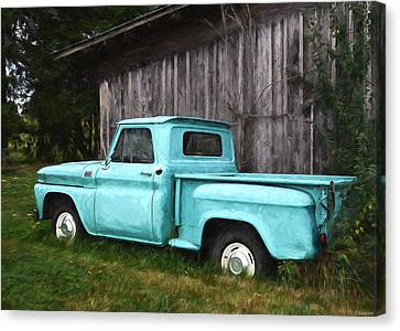 To Be Country - Vintage Vehicle Art Canvas Print by Jordan Blackstone