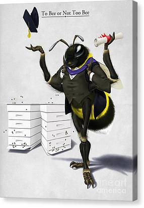 To Bee Or Not Too Bee Canvas Print by Rob Snow