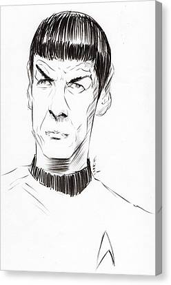 Canvas Print featuring the drawing To Boldly Go...... by Tu-Kwon Thomas