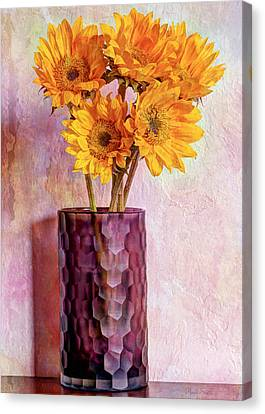 To Brighten Someone's Day Canvas Print by Heidi Smith