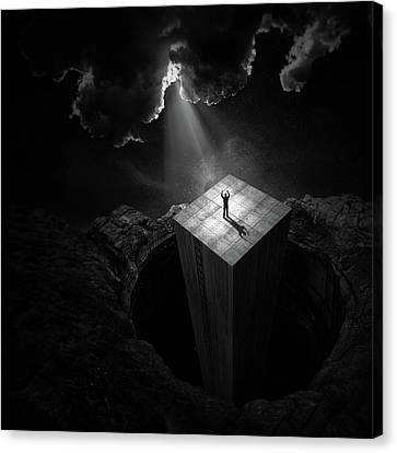 Craters Canvas Print - To Escape The Void by Martin Cekada