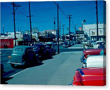 To Fisherman's Wharf 1955 Canvas Print by Cumberland Warden