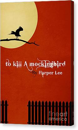 To Kill A Mockingbird Book Cover Movie Poster Art 2 Canvas Print by Nishanth Gopinathan