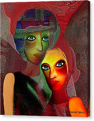 002 - To Lean On    Canvas Print by Irmgard Schoendorf Welch