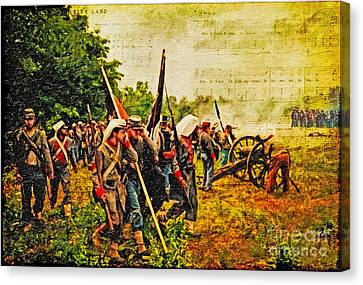 To Live And Die In Dixie Canvas Print by Lianne Schneider