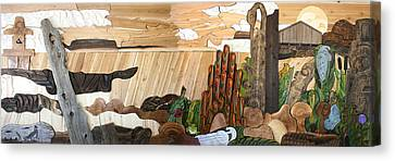 To Make You Smile Mural Canvas Print by Teddy n Laurie Mahood