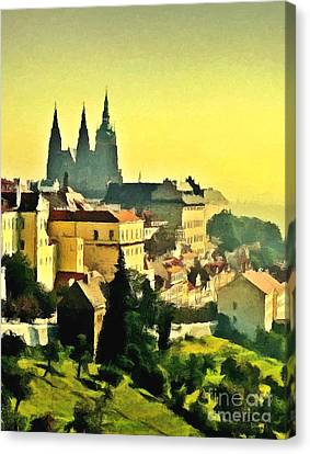 To Prague With Love... Canvas Print by Binka Kirova