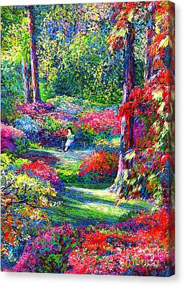 Garden Flowers Canvas Print - To Read And Dream by Jane Small