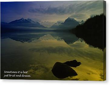 To Sit And Dream Canvas Print by Jeff Swan