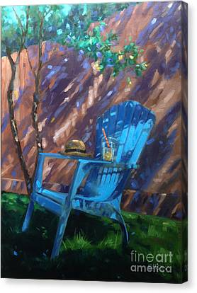 To Sit And Stare  Canvas Print by Nancy  Parsons
