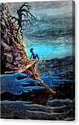 Canvas Print featuring the painting To Steep To Turn Back ... by Matt Konar