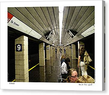 Canvas Print featuring the photograph To Street by Kenneth De Tore