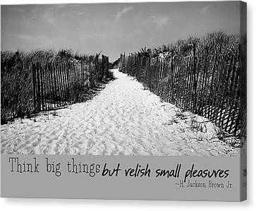 To The Beach Quote Canvas Print by JAMART Photography