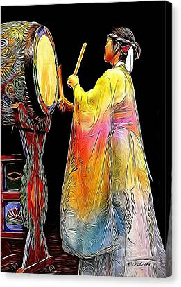 Beat Of The Drum Canvas Print by Andrea Auletta