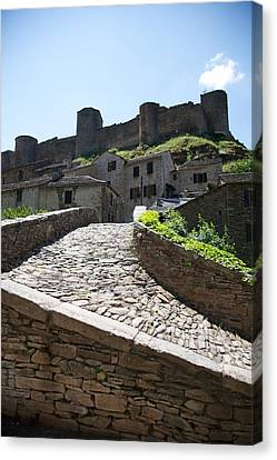 To The Castle Above Canvas Print by Lee Stickels