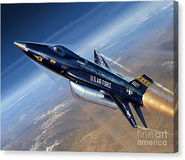 Test Canvas Print - To The Edge Of Space - The X-15 by Stu Shepherd