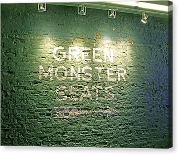 To The Green Monster Seats Canvas Print by Barbara McDevitt