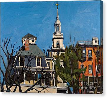 To The Heights Canvas Print by Deb Putnam