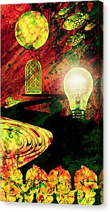 Canvas Print featuring the mixed media To The Light by Ally  White