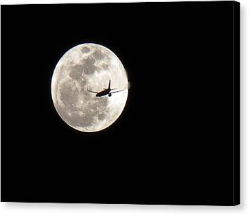 To The Moon Canvas Print by J Anthony