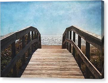 To The Sea Canvas Print by Kim Hojnacki