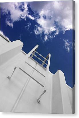 Fire Escape Canvas Print - To The Top by Don Spenner