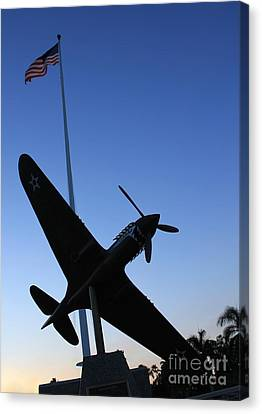 To Ww II Flyers Canvas Print