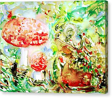 Toad And Mushroom.2 Canvas Print by Fabrizio Cassetta