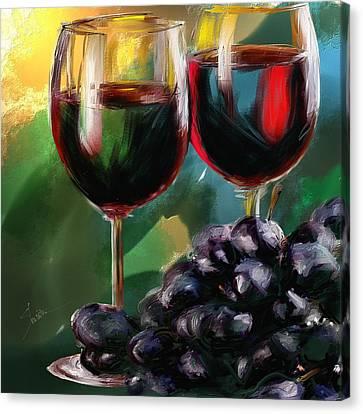 Toast Of Wine Canvas Print