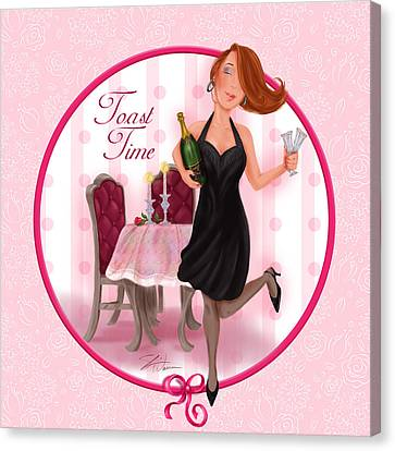 Toast Time Canvas Print by Shari Warren