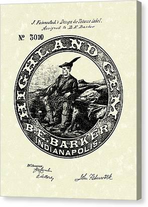 Barker Canvas Print - Tobacco Label  Patent Art by Prior Art Design