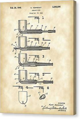 Tobacco Pipe Patent 1944 - Vintage Canvas Print