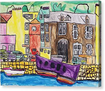 Canvas Print featuring the painting Tobermory by Artists With Autism Inc