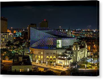 Tobin Center For The Performing Arts Canvas Print by David Morefield