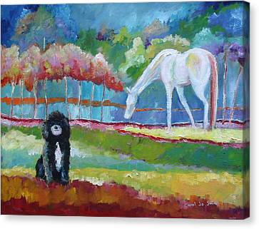 Toby The Poodle Canvas Print