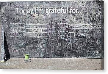 Today I'm Grateful For Canvas Print by Jim Nelson