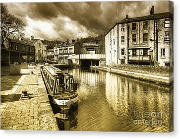 Todmorden Wharf Toned  Canvas Print
