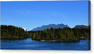 Tofino Bc Clayoquot Sound Browning Passage Canvas Print by Lawrence Christopher