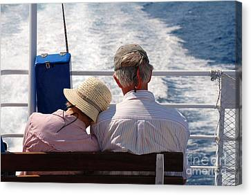 Together In Greece Canvas Print