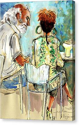 Together Old In Spain 03 Canvas Print by Miki De Goodaboom