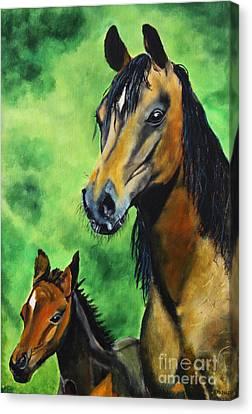 Together Canvas Print by Ryszard Sleczka